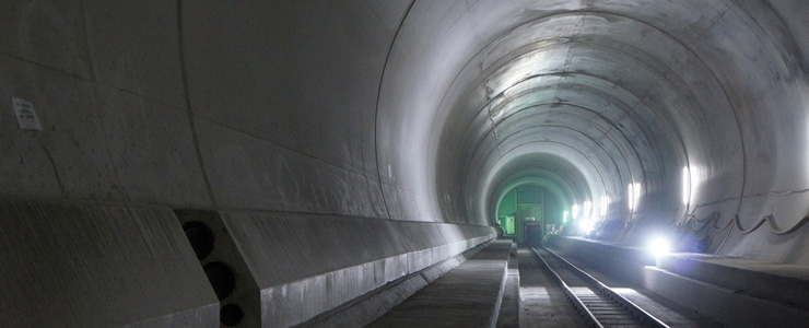 Switzerland - Basis tunnel - Sedrun stretch on the Gotthard railway line