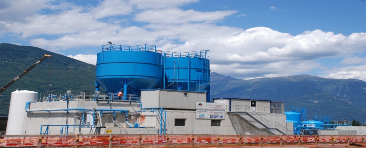 Swiss - Ceneri Tunnel - Wastewater treatment plant