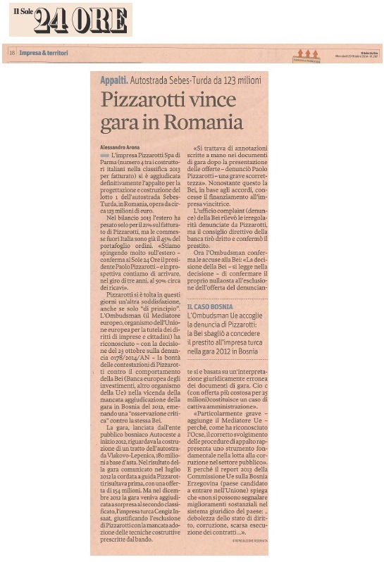 Pizzarotti vince gara in Romania