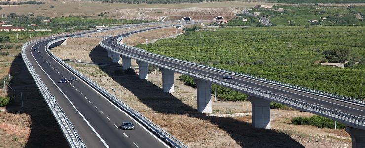 Italy, Catania - Siracusa Highway