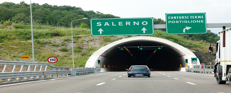 Italy, Salerno - Reggio Calabria Highway. Section: Contursi-Sicignano